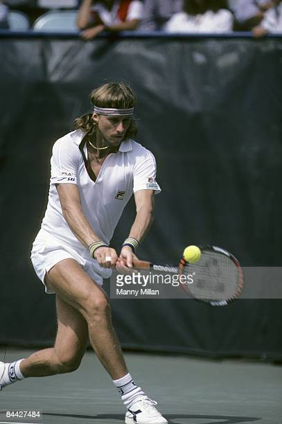 US Open Sweden Bjorn Borg in action at National Tennis Center Flushing NY 8/1/19818/31/1981 CREDIT Manny Millan
