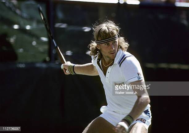 US Open Sweden Bjorn Borg in action during match at National Tennis CenterFlushing NY 8/26/19809/7/1980CREDIT Walter Iooss Jr