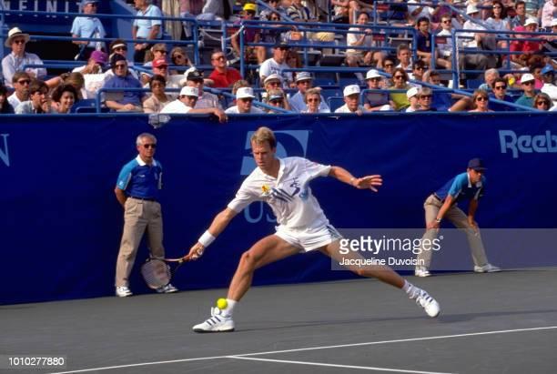 Sweden Stefan Edberg in action during Men's Finals at USTA National Tennis Center. Flushing, NY 9/13/1992 CREDIT: Jacqueline Duvoisin