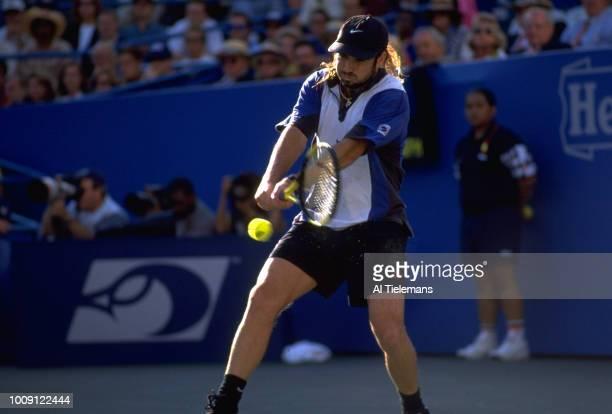 US Open USA Andre Agassi in action duirng Men's Finals at USTA National Tennis Center Flushing NY CREDIT Al Tielemans