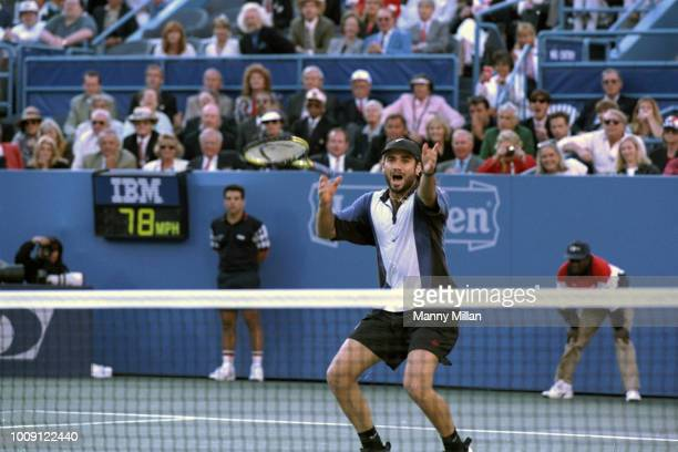 US Open USA Andre Agassi victorious after winning Men's Finals at USTA National Tennis Center Flushing NY CREDIT Manny Millan