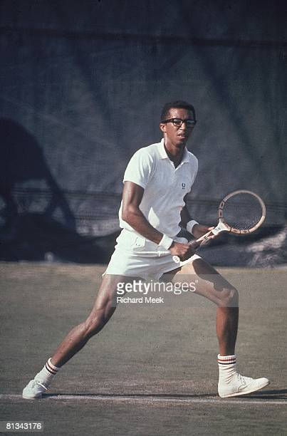 Tennis US Open USA Arthur Ashe in action during match at West Side Tennis Club Forest Hills NY 9/7/1968
