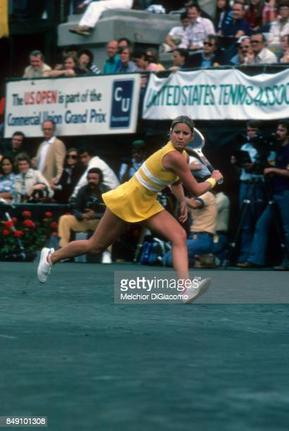 US Open USA Chris Evert in action at the West Side Tennis Club Forest Hills NY CREDIT Melchior DiGiacomo