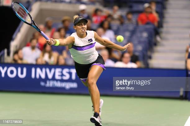 US Open USA Madison Keys in action vs USA Sofia Kenin during Women's 3rd Round match at BJK National Tennis Center Flushing NY CREDIT Simon Bruty