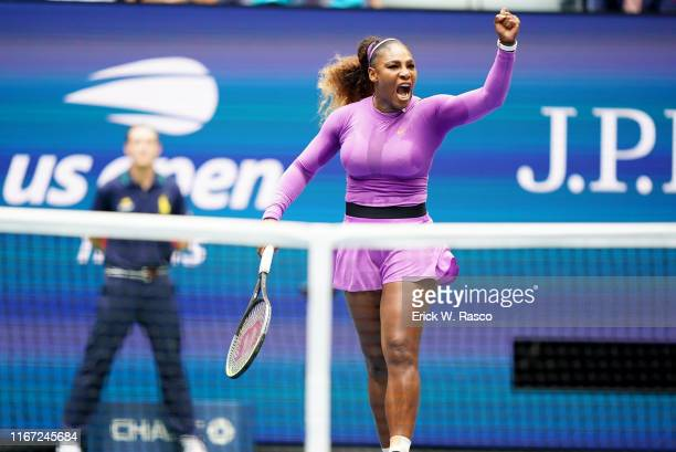 Serena Williams victorious during Women's Finals match vs Canada Bianca Andreescu at BJK National Tennis Center. Flushing, NY 9/7/2019 CREDIT: Erick...