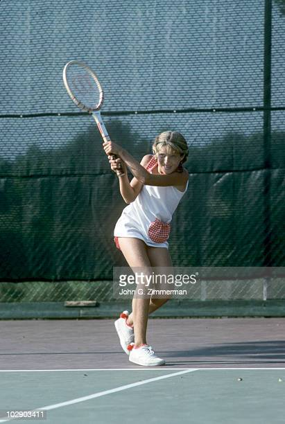 USA Tracy Austin in action during practice CA 10/6/1975 CREDIT John G Zimmerman 079005992