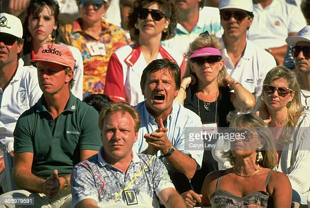 Virginia Slims of Florida View of Peter Graf and Heidi Graf parents of Steffi Graf in stands during match at Polo Club WTA Tour Boca Raton FL CREDIT...