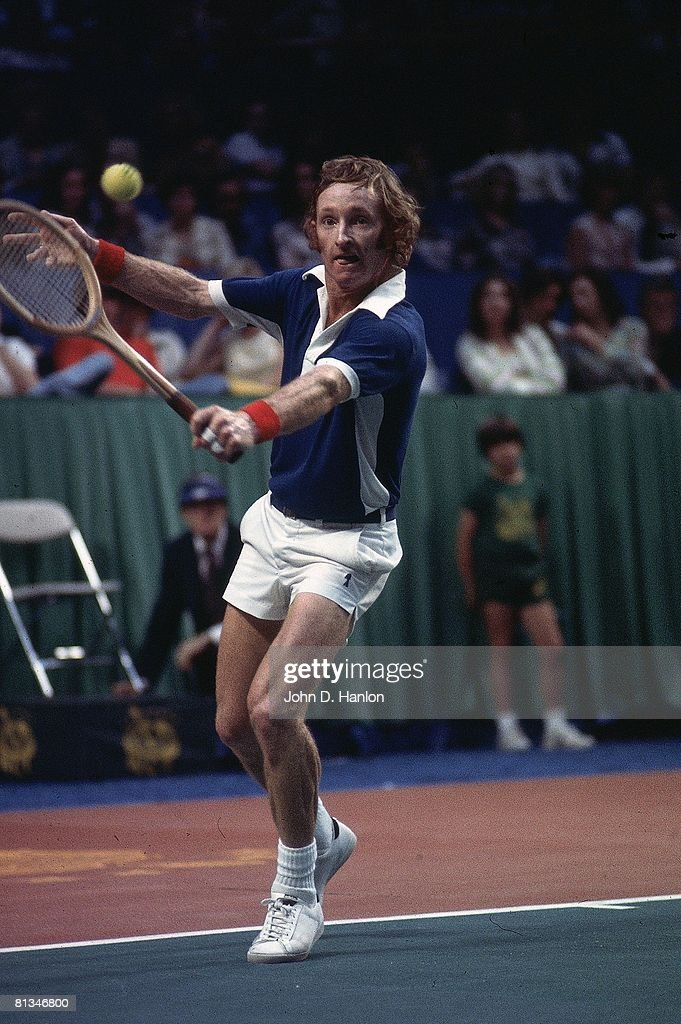 WCT Tournament, Rod Laver in action during a match, Dallas, TX 5/10/1975