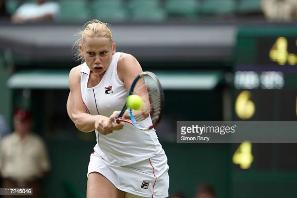 Wimbledon Australia Jelena Dokic in action vs Italy Francesca Schiavone during Women's 1st Round at All England Club London England 6/20/2011 CREDIT...
