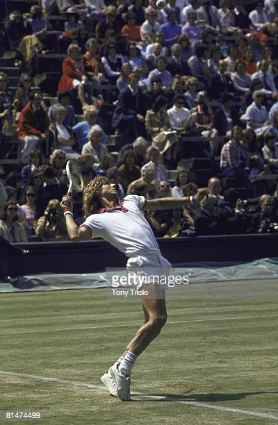 Tennis Wimbledon Bjorn Borg in action at All England Club London GBR 7/3/1974