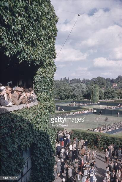 Tennis Wimbledon Scenic view of fans at All England Club London GBR 7/1/1954
