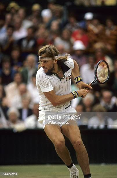 Wimbledon Sweden Bjorn Borg in action at All England Club London England 6/1/19806/30/1980 CREDIT Walter Iooss Jr