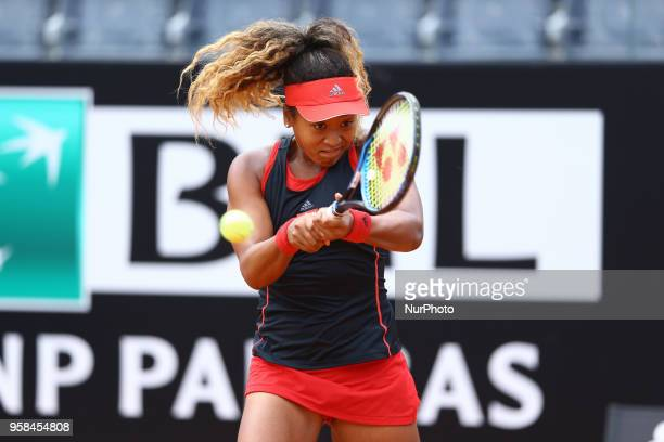 Tennis WTA Internazionali d'Italia BNL First Round Naomi Osaka at Foro Italico in Rome Italy on May 14 2018