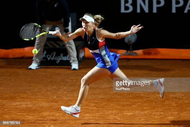 Tennis WTA Internazionali d'Italia BNL round of sixteen Caroline Wozniacki at Foro Italico in Rome Italy on May 17 2018