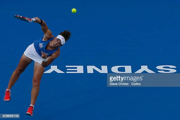 Tennis……Apia International Tennis, Sydney Olympic Park Tennis Centre. Women's singles match, round 1. Australia's Samantha Stosur v China's Zheng Jie...