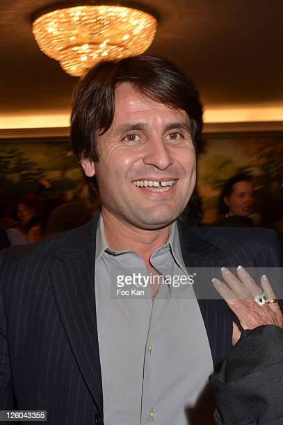Tennisman Fabrice Santoro attends the 'Charity Event For Children in Haiti' hosted by the CIRA at the Hotel Bristol on January 5 2011 in Paris France