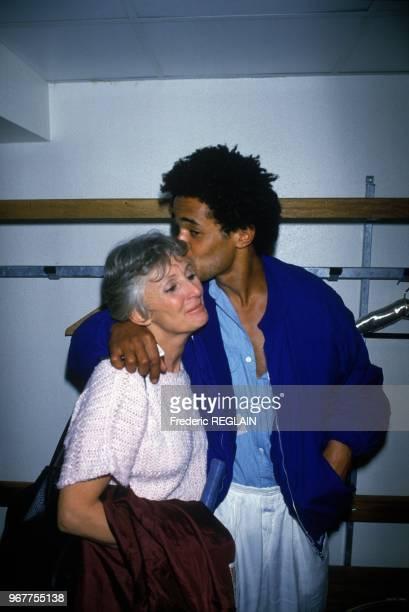 Tennisman Yannick Noah With His Mother Marie Claire, Paris, April 20, 1986.