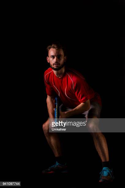 tennisplayer waiting for serve - serving sport stock photos and pictures
