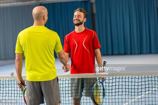 Tennisplayer wish good luck