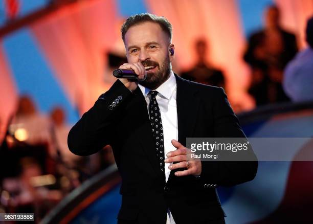 Tenor Alfie Boe performs at the 2018 National Memorial Day Concert at US Capitol West Lawn on May 27 2018 in Washington DC
