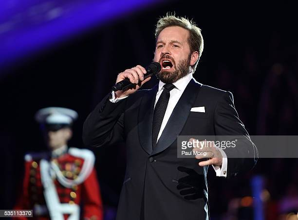 Tenor Alfie Boe performs during the 27th National Memorial Day Concert Rehearsals on May 28 2016 in Washington DC