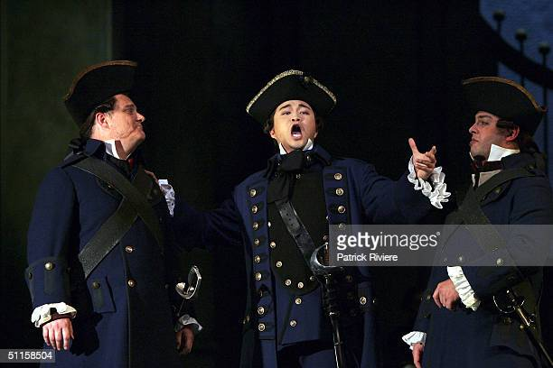 Tenor Han Lim performs in a new production of Massenet's 'Manon' at the Sydney Opera House August 9 2004 in Sydney Australia