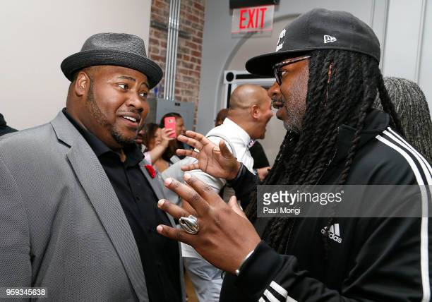 Tenor Issachah Savage and James Mckinney attend the Vocal Health Clinic event hosted by The Recording Academy WDC Chapter and MusiCares at the...