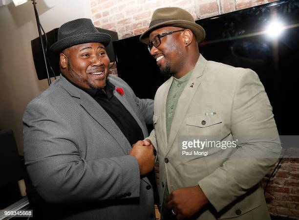 Tenor Issachah Savage and Jeriel Johnson Executive Director The Recording Academy DC Chapter attend the Vocal Health Clinic event hosted by The...