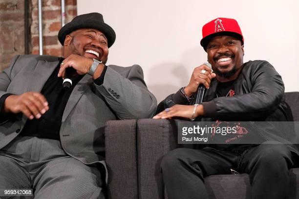 Tenor Issachah Savage and singer songwriter and producer Anthony Hamilton participate in panel discussion at the Vocal Health Clinic event hosted by...