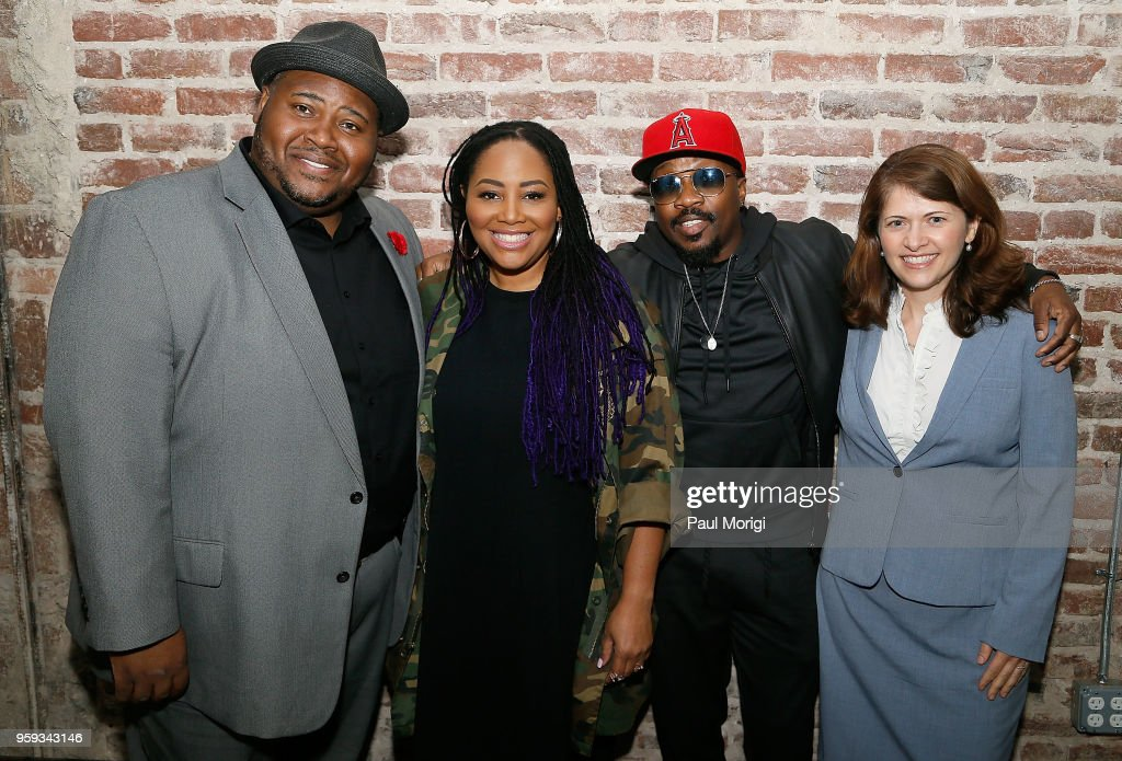 Tenor Issachah Savage, singer Lalah Hathaway, singer, songwriter and producer Anthony Hamilton, and Nazaneen Grant, MD, Associate Professor of Otolaryngology - Head and Neck Surgery, MedStar Georgetown University Hospital, attend the Vocal Health Clinic event hosted by The Recording Academy WDC Chapter and MusiCares at the National Union Building on May 16, 2018 in Washington, DC.