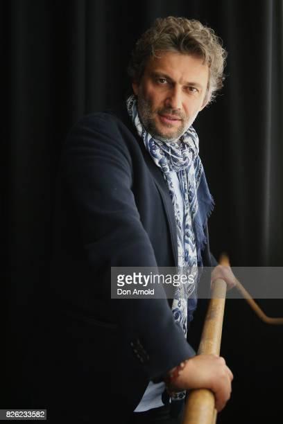 Tenor Jonas Kaufmann poses at The Opera Centre on August 4 2017 in Sydney Australia