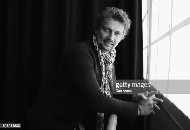 Tenor Jonas Kaufmann poses at The Opera Centre on August 4 2017 in Sydney Australia