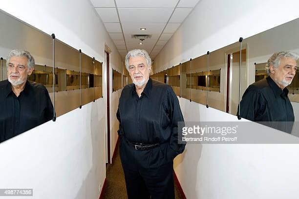 Tenor Opera Singer Placido Domingo attends 'Vivement Dimanche' TV Show at Pavillon Gabriel on November 25 2015 in Paris France