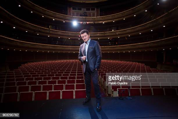 Tenor Piotr Beczala poses for a portrait session at Zarzuela Theater on January 8 2018 in Madrid Spain