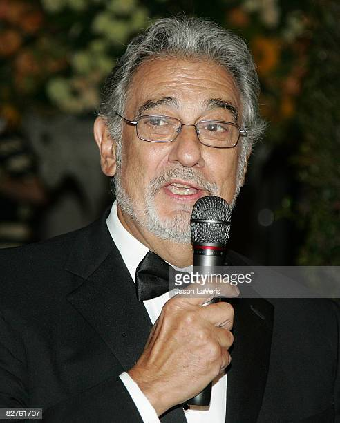 Tenor Placido Domingo attends the LA Opera season opening weekend at the Dorothy Chandler Pavilion on September 6 2008 in Los Angeles California