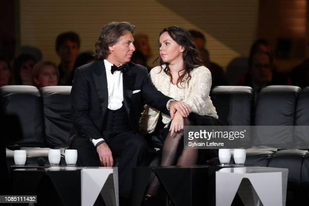 Tenor Roberto Alagna and his wife soprano Aleksandra Kurzak attend Le Grand Echiquier talkshow at Palais des Beaux Arts on December 20 2018 in Lille...