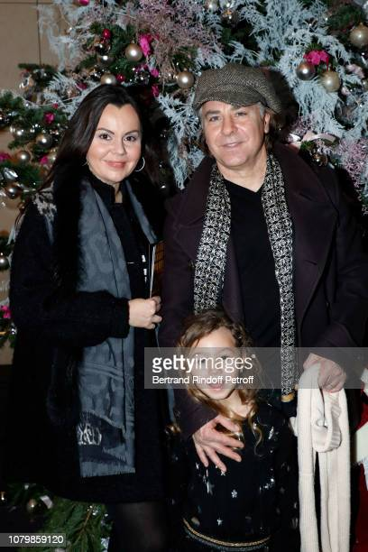Tenor Roberto Alagna his wife Soprano Aleksandra Kurzak and daughter Malena Alagna attend Cendrillon choregraphing by Rudolf Noureev during Reve...