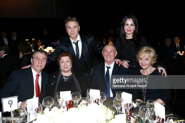Tenor Roberto Alagna with his parents and Soprano Alexandra Kurzak with her parents attend the AROP Charity Gala with the representation of Carmen at...