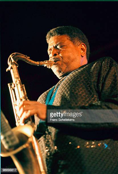 Tenor Sax player George Coleman performs live on stage at the North Sea Jazz Festival in The Hague, Holland on July 12 2000