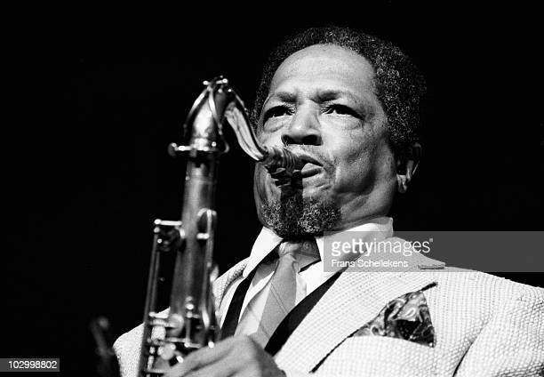 Tenor sax player Illinois Jacquet performs live on stage at the North Sea Jazz Festival in The Hague, Holland on July 09 1983