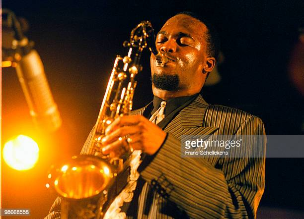 Tenor Sax player James Carter performs live on stage at the North Sea Jazz Festival in The Hague, Netherlands on July 11 1998