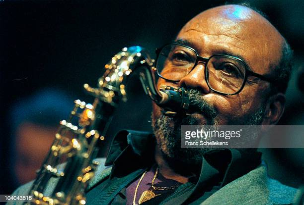 Tenor Sax player James Moody performs on stage at BIM Huis on October 26 2000 in Amsterdam, Netherlands.