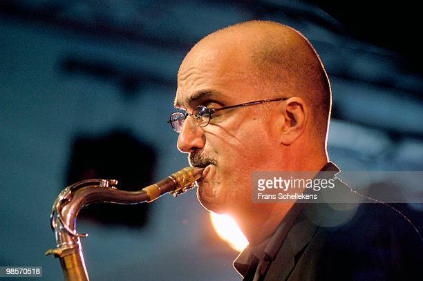 Tenor Sax player Michael Brecker performs live at the North Sea Jazz Festival in The Hague, Holland on July 12 2003