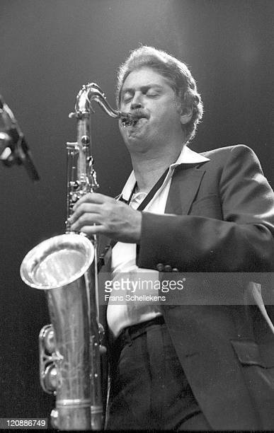 Tenor sax player Pete Christlieb performs live on stage during the NOS jazzfestival at de Meervaart in Amsterdam, Netherlands on 22nd August 1986.