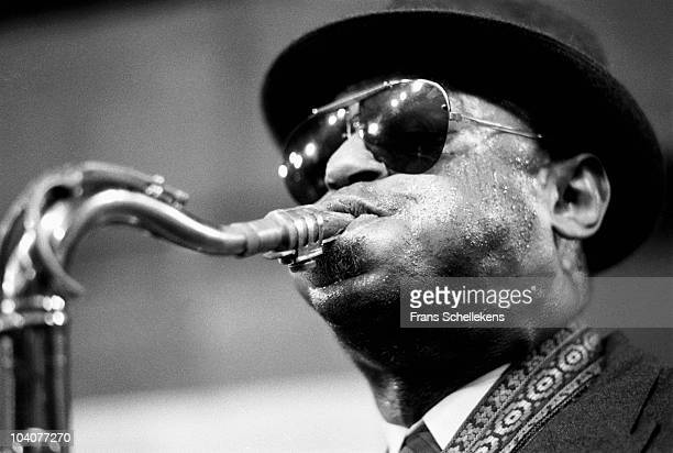 Tenor saxophone player Archie Shepp performs on stage at BIM Huis on April 14 1984 in Amsterdam Netherlands