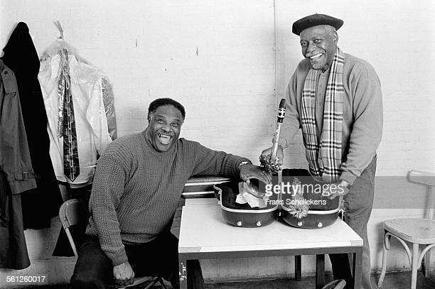 Tenor saxophone players Houston Person, left, and David 'Fathead' Newman pose on January 29th 1998 at the BIM huis in Amsterdam, Netherlands.