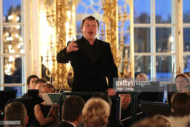 Tenor Sergey Skorokhodov Winner of the Montblanc New Voices at Stars of the White Nights 2010 performs during the Mariinsky Ball of Montblanc White...