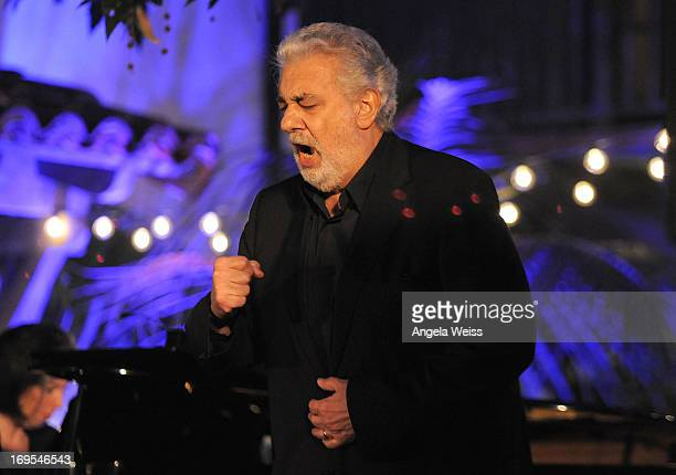Tenor/conductor Placido Domingo attends an Unforgettable Evening benefiting The Alzheimer's Association hosted by Grey Goose at a Private Residence...