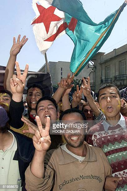 Tens of thousands of ethnic Berbers mark the 22nd anniversary of the brutal crackdown on the protests of 'Berber Spring' at BniDouala in Algeria's...