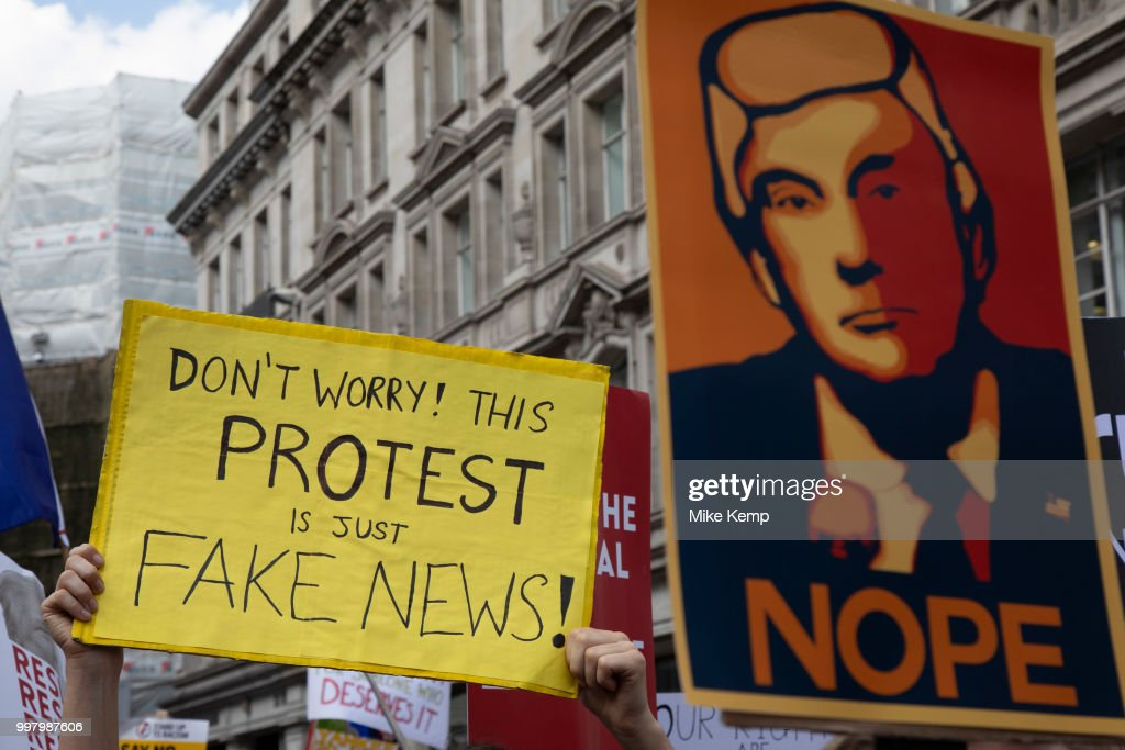 Together Against Trump National Demonstration In London : News Photo